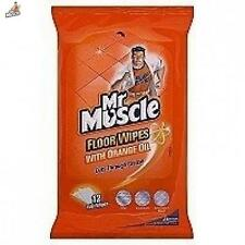 Mr Muscle Orange Floor Wipes Pack Of 12 Surface Cleaner Washing Utility Home New