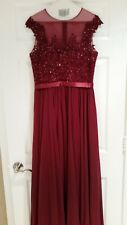 Beautiful gown - burgundy with beading!!! Worn only once!!!