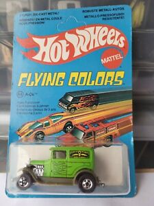 Hot Wheels FLYING COLOURS  - A OK [GREEN] NEAR MINT VHTF CARD GOOD COMBINED POST