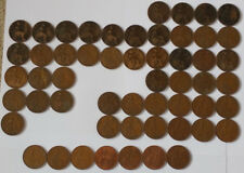 54 Pcs Old English Pennies / 1896 - 1967 / 1 of Each Year - 54 Different Year