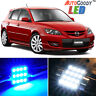 8 x Premium Blue LED Lights Interior Package Kit for 2004-2009 Mazda 3 + Tool