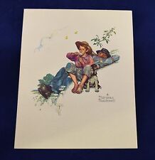 Vintage NORMAN ROCKWELL Four 8x10 Embossed PRINTS GRANDPA & ME SERIES b&b