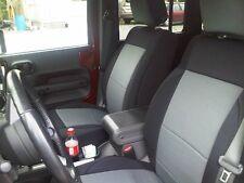 2013-2016 Jeep Wrangler 2 Door Neoprene Front & Rear Seat Covers Set Black/Gray