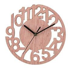 Round Wall Clock Wood Clocks Home Decorative Watch for Living Room Bedroom