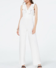 Almost Famous Juniors' Ruffled Jumpsuit Msrp $39 Size L # 3B 1251 New