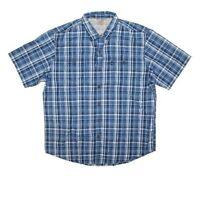 G.H.Bass & Co Men's Short Sleeve Button Down Shirt ,Color : Indigo Sky