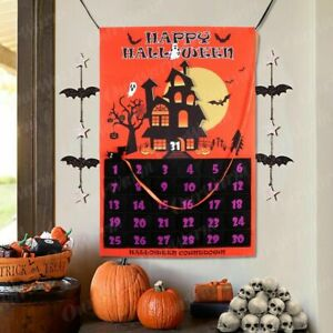 Halloween Decoration Countdown Calendar Hanging Ornaments For Home & Office Wall