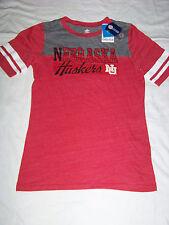 Adidas Originals Women's College Vault Nebraska Cornhuskers Shirt NWT Large