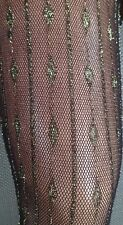 LUREX LACE  SPARKLER  STOCKINGS GOLD /BLACK