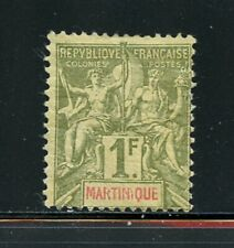 A140 Martinique 1892 1Fr. 1v. MH