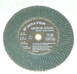 "Walter 07-Q-458 Quick Step 4 1/2"" Zirconia Flaps Discs 80 Grit 11000 RPM 10 pk"
