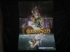 GOLDEN SUN LOST AGE Nintendo Game Boy Advance GBA **FOLDABLE POSTER** ZELDA VIP