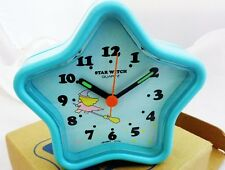 Vintage New Old Stock Orient Japan Kids/Teen Blue Alarm Clock (Star Witch)