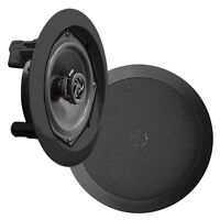 New PDIC81RDBK Pair 8-Inch 2-Way Round In-Ceiling Speaker System 250 Watts/Black