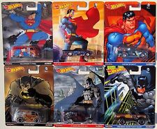 HOT WHEELS 2016 POP CULTURE DC COMICS SUPERMAN & BATMAN SET OF 6