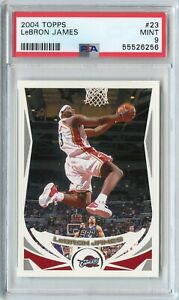 2004-05 Topps LeBron James Base #23 PSA 9 Mint CLEVELAND CAVALIERS 2nd Year