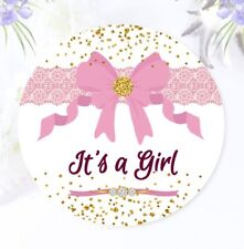 It's a Girl Baby Shower Stickers, Baby Shower Favor Labels