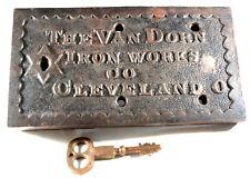 New ListingAntique Jail Cell Door Lock Van Dorn Cleveland Prison Old w/ Working Key
