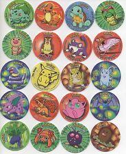 Tazos Pogs Pokemon Go Complete set of 51 First Series Tasos Caps Chips Tokens