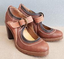 BNWT Ladies Sz 39 8 Rivers Brand Riversoft Gorgeous Tan High Heel Sandals Shoe