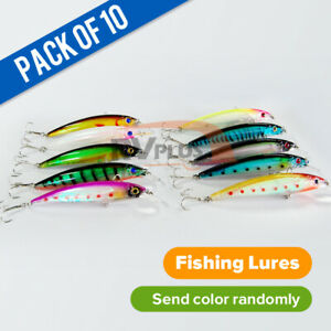 10X110mm Fishing Lures Minnow Mullet Fish Baits Double Sharp Hooks Tool