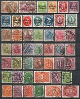 Germany Weimar 1920-1921 used Definitives incl. 1920 Germania Set, Bavaria Optd
