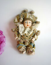 Porcelain Venetian small collectable costumed doll from Venice, Italy. Gorgeous.