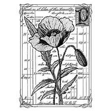 Crafty Individuals PRETTY POPPY Unmounted Red Rubber Stamps