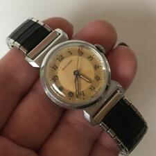 ladies watch with stretc. Lot 16K Vintage silver tone round Movado Switzerland