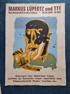 Prof. Markus Lüpertz, Original-Plakat, 2009, handsigniert
