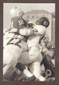 NEBRASKA CORNHUSKERS VS OKLAHOMA STATE COWBOYS 1954 FOOTBALL POSTCARD COPY