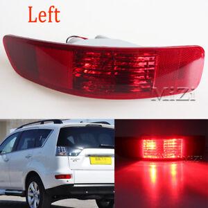 Left +Blub For Mitsubishi Outlander 2007-12 Rear Tail Bumper Reflector Fog Light