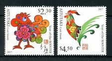 Aitutaki Cook Isl 2016 MNH Year of Rooster 2017 2v Set Chinese New Year Stamps