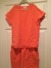 Chole Coral Knit Cap Sleeve Dress with Skirt Pockets -  Girl's Size 12 - EUC