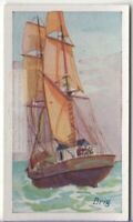 Brig Two Square Rigged Mast Sailboat  85+ Y/O Trade Ad Card