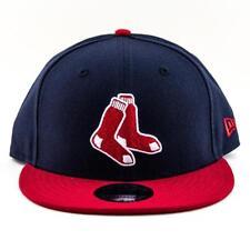 Boston Red Sox Era Cap MLB 9fifty Flat Brim Hat in Navy-red
