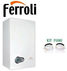 Caldaia condensazione 24 Bluehelix Tech 25 Ferroli con kit fumi classe A/A