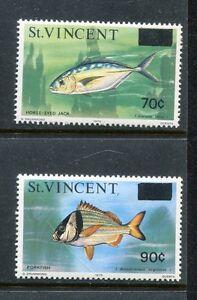 Saint Vincent 463-464, MNH. Marine Life, Fish New valu. 1976 x18882