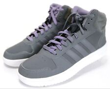 Adidas Hoops Mid $86 Men's High-Tops Athletic Sneakers Shoes Size 9 Gray Purple