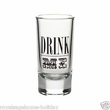 4045459 Dept 56 Halloween Fairytale DRINK ME Printed Shot Glass Set/2 Bar Party