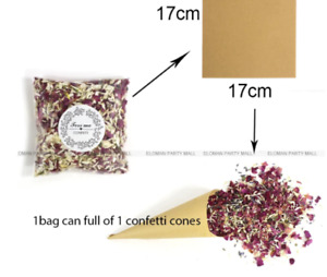Custom Wedding Confetti Cones Retro Craft Placing Cones Wedding Party Supplies
