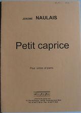 """Partition pour violon et piano, """"Petit caprice"""" de Jérome Naulais"""