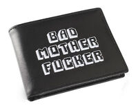 Black and White Embroidered BMF (Bad Mother Fu**er) Pulp Fiction Leather Wallet