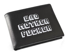 Black Embroidered BMF (Bad Mother Fu**er) Leather Wallet As Seen in Pulp Fiction