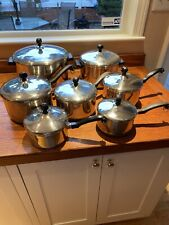 FARBERWARE Stainless Steel Cookware Pots And Pans Set, 14 Pc Set Classic/Vintage