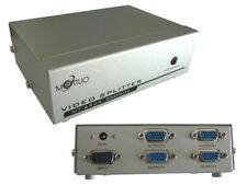 Vga splitter 4 port 250mhz image of a pc to 4 screens