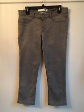 Joe Fresh Womens Jeans Size 8 Gray Slim Stretch Casual Cropped Pants