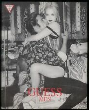 1993 Drew Barrymore photo in lingerie Guess fashion vintage print ad