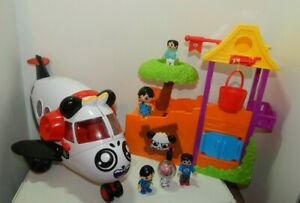 Ryans World Air Plane Travel Toy Combo Panda Airlines & Treehouse + Figures Lot