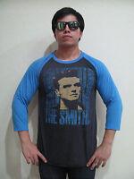 Steve Morrissey The Smiths Band Raglan T-Shirt Men's Gray Graphic Tee Bunny